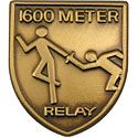 1600 M Relay Lapel Pin
