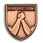 Arm Wrestling Lapel Pin