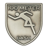 100 M Dash Lapel Pin