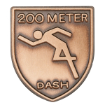 200 M Dash Lapel Pin