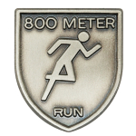 800 M Dash Lapel Pin