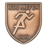 1600 M Dash Lapel Pin