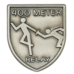 400 M Relay Lapel Pin