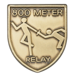 800 M Relay Lapel Pin