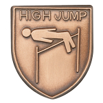 High Jump Lapel Pin