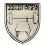 Bench Press Lapel Pin
