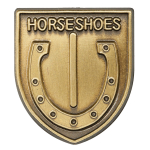 Horse Shoes Lapel Pin