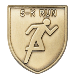 5-K Run Lapel Pin