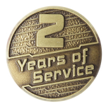 2 Years of Service Pin