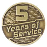 5 Years of Service Pin