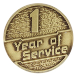 1 Year of Service Pin