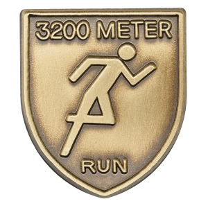 3200 M Dash Lapel Pin