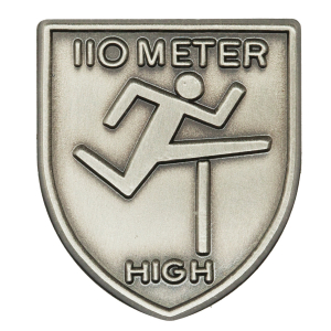 110 M High Hurdles Lapel Pin