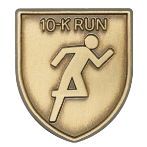 10-K Run Lapel Pin