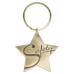 Safety Star Key Tag